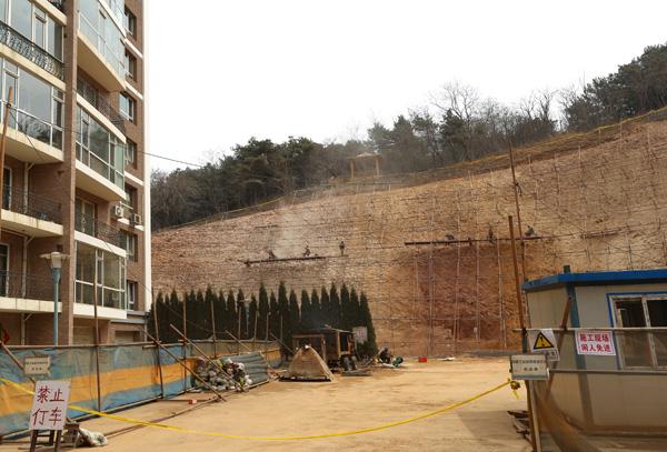 某住宅小区挡土墙边坡支护设计